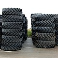 A stack of tractor tyres - geograph.org.uk - 1409842.jpg