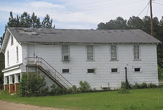 Ashland, Natchitoches Parish, Louisiana - Once a landmark in the village, the old Masonic Lodge hall has been abandoned and replaced by a newer pre-fabricated structure nearby.