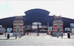 Anderlecht - Great hall of the slaughterhouse of Anderlecht