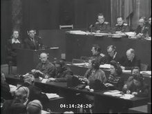 File:Abraham Sutzkever and Seweryna Szmaglewska testify before the International Military Tribunal.webm