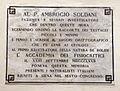 Accademia dei fisiocritici, auditorium, lapide ambrogio soldani, 1872.JPG