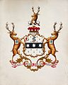 Achievement of arms (of Baron Lister?). Watercolour. Wellcome V0018195.jpg