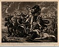 Achilles dragging the body of Hector around Troy. Mezzotint after G. Hamilton, 1794 V0036090.jpg