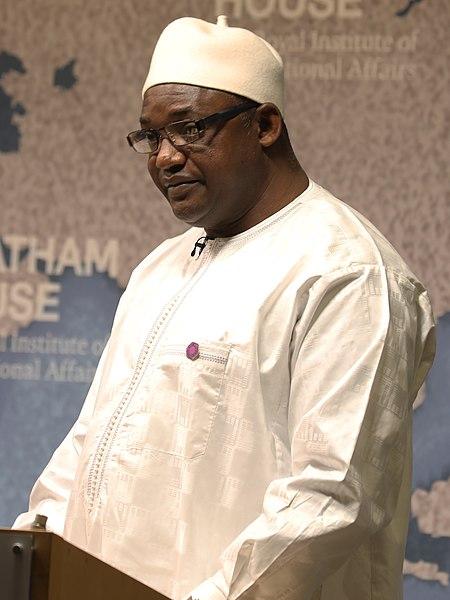 Adama Barrow, President, Republic of the Gambia - 2018 (cropped).jpg