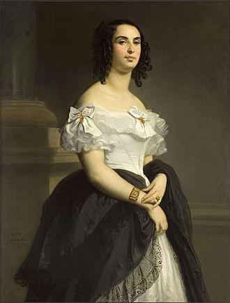 Adèle Foucher - Adèle Hugo as a young woman, by Louis Boulanger