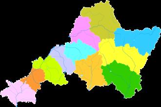 Jinzhong - Image: Administrative Division Jinzhong