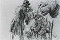 Adolph Menzel - Studie zu Adam beim Verbinden des Beines während er sich im Spiegel betrachtet.jpg