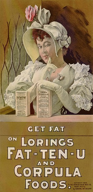 Weight gain - An 1895 advertisement for a weight gain product