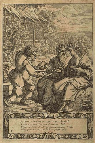 Aesop - Aesop as depicted by Francis Barlow in the 1687 edition of Aesop's Fables with His Life