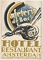 Affiche voor cafetaria De Bock in hotel-restaurant Amsterdam, Kleine-Gartmanplantsoen 5 Mommie Schwarz ca. 1920.jpg