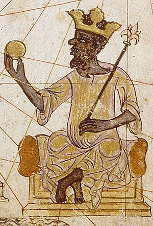 English: Image of an Saracen king of West Afri...