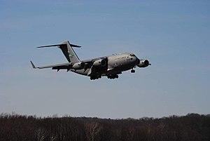 Williamsport Regional Airport - United States Air Force C-17 at IPT in 2017