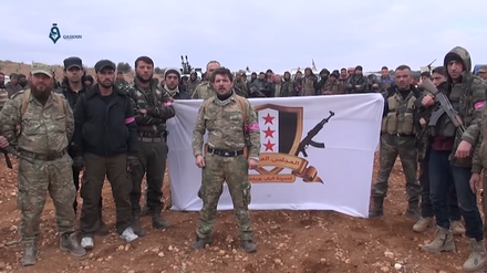 Turkish-backed Free Syrian Army fighters during the Battle of al-Bab Al-Bab military council.png