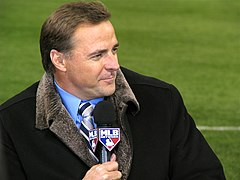 Leiter with mlb network at the 2009 world series