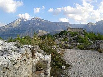Conrad of Antioch - Ruins of the castle of Alba today