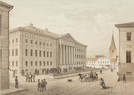 University of Dorpat in the mid-19th century Album von Dorpat, TKM 0031H 05, crop.jpg