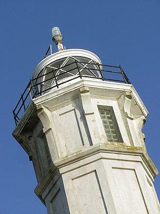 Alcatraz Island Lighthouse - Image: Alcatraz lighthouse top