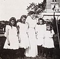 Alexandra Fyodorovna with her daughters in Peterhof.jpg