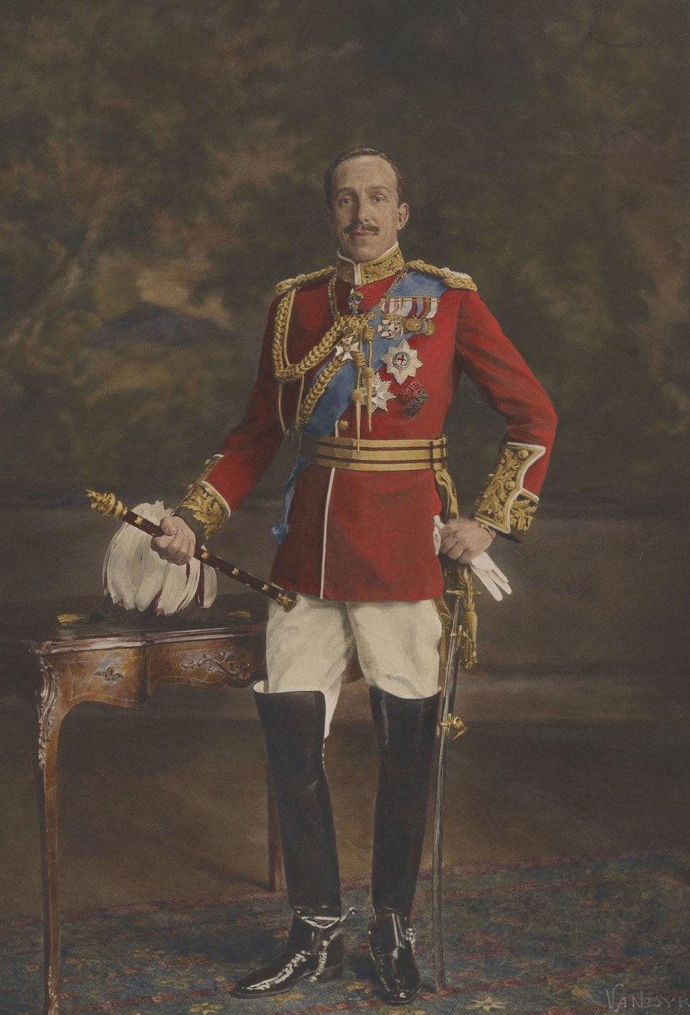 Alfonso XIII in uniform of a British Field Marshall