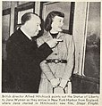 Alfred Hitchcock and Jane Wyman arrive in New York Harbor.jpg
