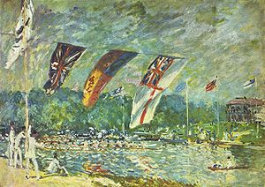 Molesey Regatta - Molesey Regatta painted in 1874 by Alfred Sisley