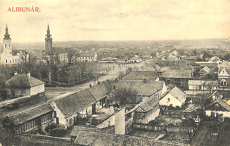 Alibunar, slika sa razglednice