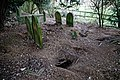 All Saints Church, Berners Roding, Essex neglected destroyed graves.jpg