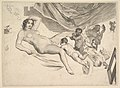 Allegorical Subject- Nude Woman, Three Children and a Mousetrap (La Sourcière) MET DP822419.jpg