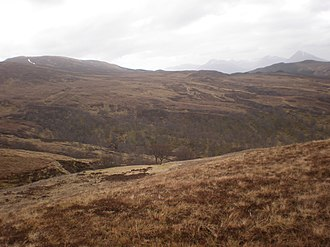 Battle of Inverlochy (1645) - The watercourse leading from Glen Buck to the hill of Carn na Larach. Montrose's men passed over this terrain, in winter, on the way to Inverlochy.