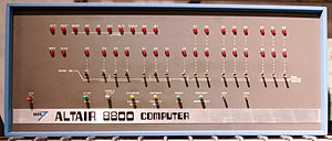 Front panel - Altair 8800 microcomputer front panel
