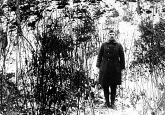 Alvin York - Sergeant Alvin C. York at the hill where his actions earned him the Medal of Honor (February 7, 1919)