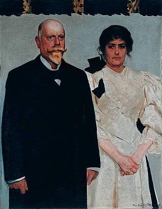 Amalie Skram - Amalie and Erik Skram, double portrait by the Danish painter Harald Slott-Møller, 1895