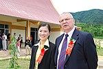 Ambassador Michael Michalak and Truong Thi Ngoc Anh meet with students at the Kon Ray School (5686573912).jpg