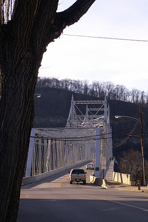Ambridge–Aliquippa Bridge - The Ambridge-Aliquippa Bridge, seen from the Ambridge side