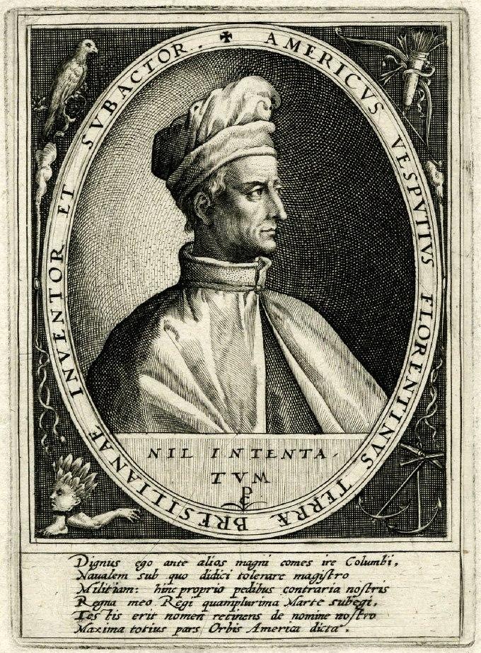 Amerigo Vespucci (with turban)