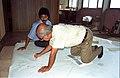 Amit Sarkar Draws Astrological Sign - NCSM - Calcutta 1996-09-02 352.JPG