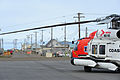 An MH-60 Jayhawk helicopter with Coast Guard Air Station Kodiak, Alaska, sits on the runway during Arctic Shield 2012 in Barrow, Alaska, July 20, 2012 120720-G-VT98-005.jpg