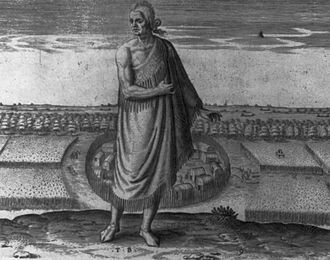 Pamlico - An aged Native man from Pomeiock, c. 1590