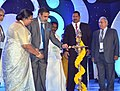 Anand Sharma lighting the lamp to inaugurate the 19th Indian International Seafood Show 2014, in Chennai. The Minister for Fisheries, Tamil Nadu, Shri K.A. Jayapal, the Minister for Labour & Employment, Fisheries.jpg