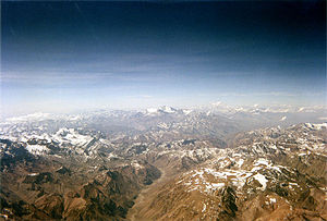 none The Andes between Chile and Argentina