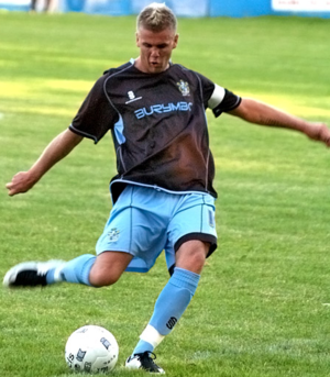 Andy Bishop - Bishop playing for Bury in 2008