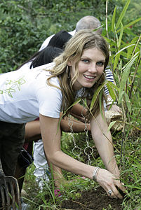 Angela Lindvall is Planting Bamboo Seedlings in Bali, Indonesia.JPG