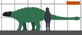 Ankylosaurus estimated size 01.png