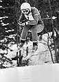 Anne Marie Mozes Proell werd wereldkampioen afdeling dames (kop), in actie, Bestanddeelnr 929-5526.jpg