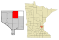 Anoka Cnty Minnesota Incorporated and Unincorporated areas EastBethel Highlighted.png