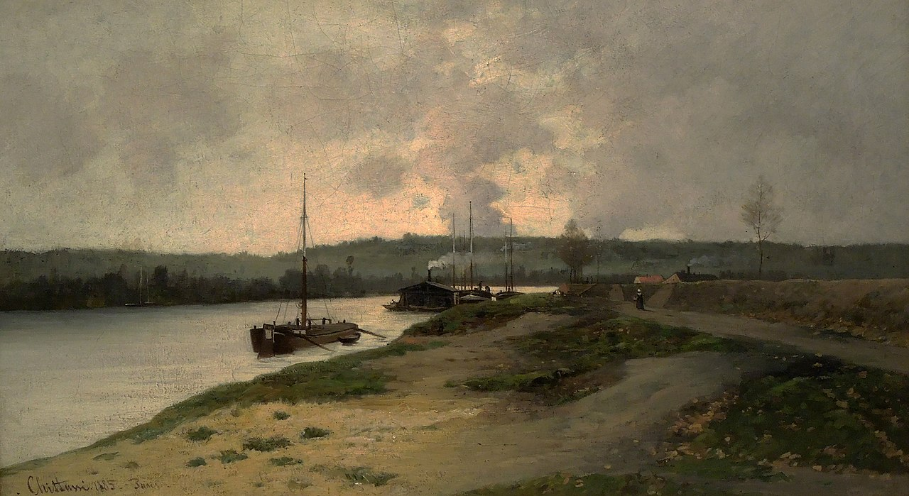 Antonín Chittussi - Country with the Seine, 1885