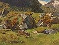 Anton Schrödl - Study of Rocks at Ferleiten.jpg