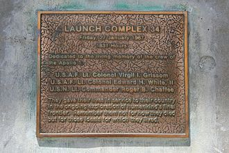Cape Canaveral Air Force Station Launch Complex 34 - Apollo 1 Plaque at LC-34