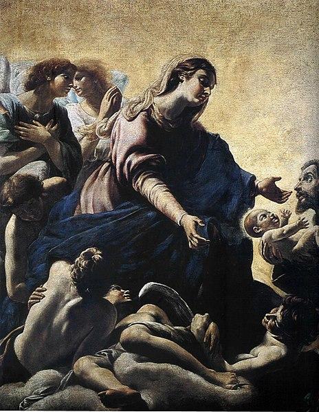 File:Apparizione della Vergine a san Francesco - Borgianni.jpg