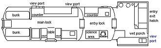 NEEMO - Floorplan of Aquarius.